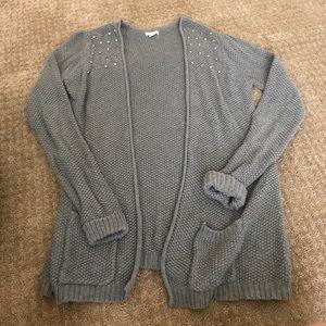 Studded shoulder cardigan