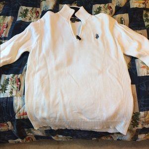 White Polo Sweater
