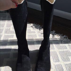 Women's Black Ugg knee high boots size 8