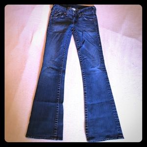 USA made True Religion size 28 flare jeans used