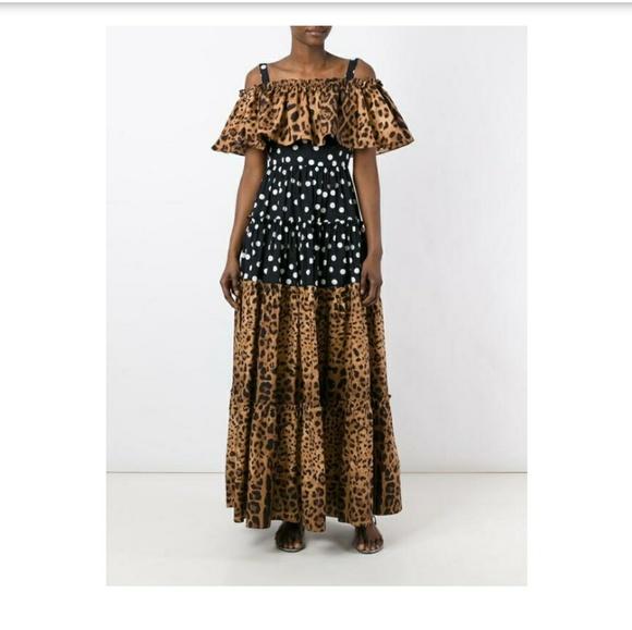 02a60516 Dolce & Gabbana Dresses | Dolce Gabbana Leopard Polka Dot Dress ...