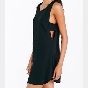Black cutout tank top shift dress