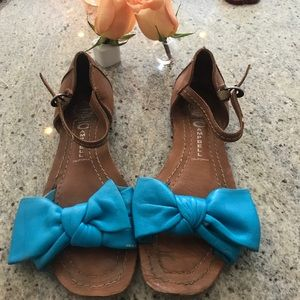 Blue bow sandals used love them!Jeffrey Campbell