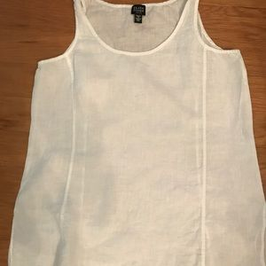 Eileen Fisher linen tank - Size PS - White