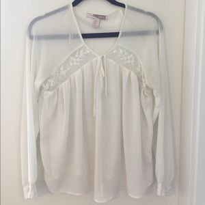 White Flowy Long Sleeve