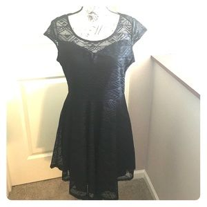 Black Aztec lace dress