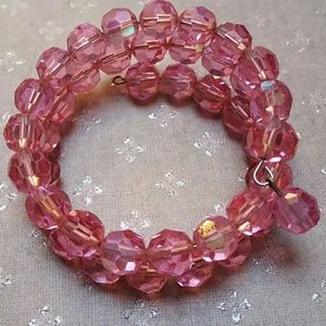 Vintage crystal wire wrap bracelet