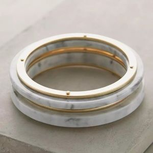 NWT Anthropologie Lucite Bangles Set of 2