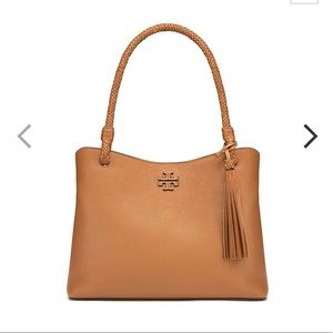 NWT Tory Burch Three-Compartment Leather Tote