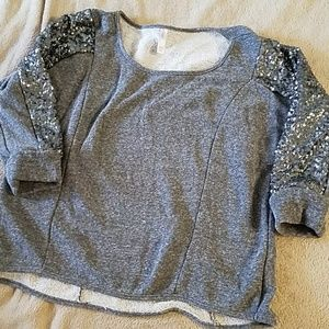 Sequin sweater. xhilration.