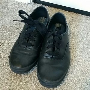 Keds All Black Leather shoes