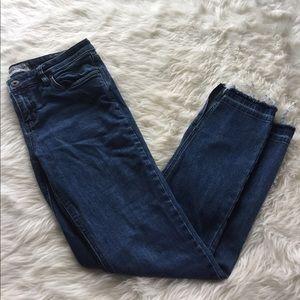 Free People split ankle frayed jeans