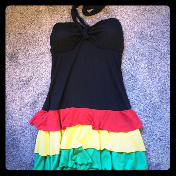 339c9a4329 ingear Other - Jamaican Colors Swim Cover Up - EUC!