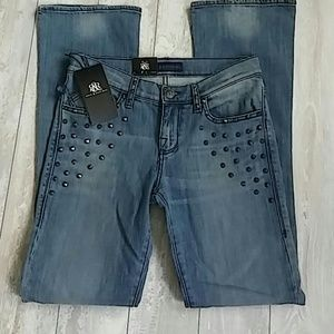 Rock & Republic Studded 6M Bootcut New Jeans