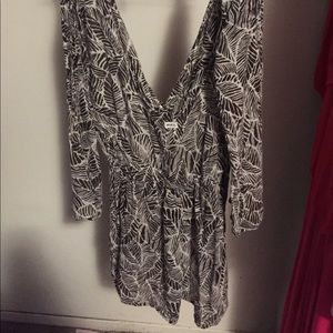 RVCA animal print romper size small