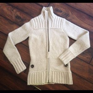 LOLE Cream Zip Up Long Sleeve Women's Sweater XS