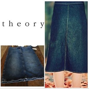 🆕Theory Vintage Denim Jean Skirt
