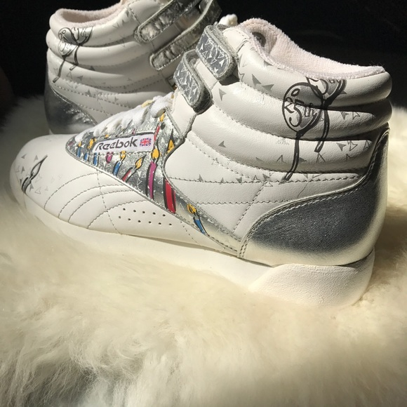 6ce0514a6e39e ... Reebok Shoes - Rebook Freestyle High 25th Anniversary Series ...