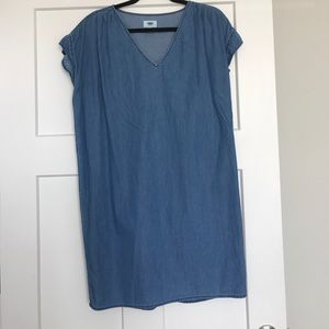 Cocoon Chambray Dress