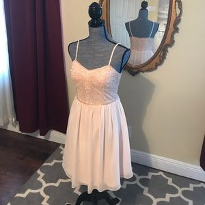 David's Bridal Blush Cocktail Dress
