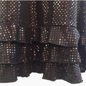 Dresses - vintage 90's black on black sparkly party dress