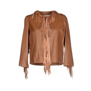 Brown Fringe Leather Jacket