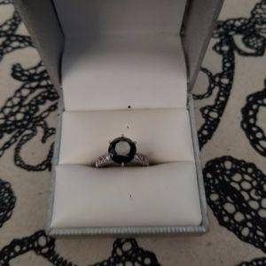 5.5 Carat Black Diamond Ring