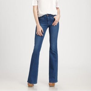 Dark Wash Marrakesh Mid Rise Kick Flare Jeans
