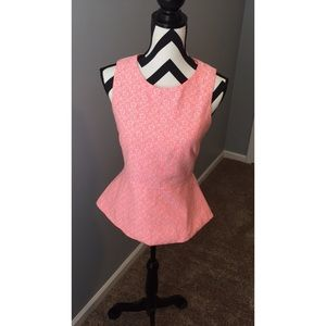 Forever 21 Pink Peplum Top🌸 Size: S