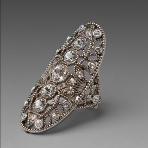House of Harlow 1960 Pave Crystal Ring 7