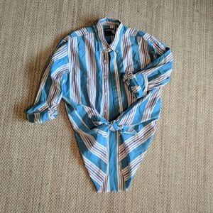 Vintage 90's Wrangler Western Striped Shirt