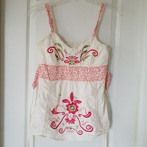 Hippy embroidered tank