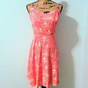 Seaside Boardwalk Coral Cami Dress