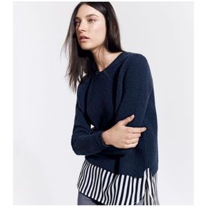 J. Crew lambswool shirttail sweater in Stripe