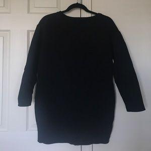 Black Ribbed Aritzia Long Sweatshirt