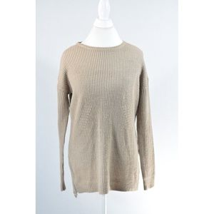 Tan High Low Sweater Tunic