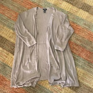 Like new taupe Alfani open front longer cardigan