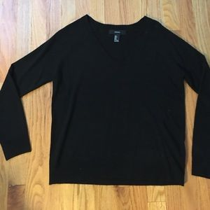 Black forever 21 v neck sweater