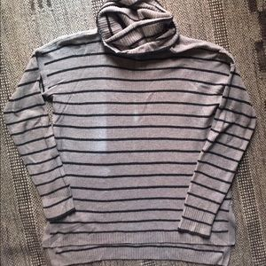 Madewell striped turtleneck sweater