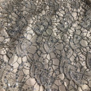 H&M Skirts - Ivory Sequined Lace Skirt