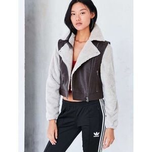 BDG Faux Leather & Sherpa Jacket Urban Outfitters