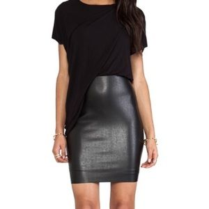 Bailey44 faux leather skirt dress