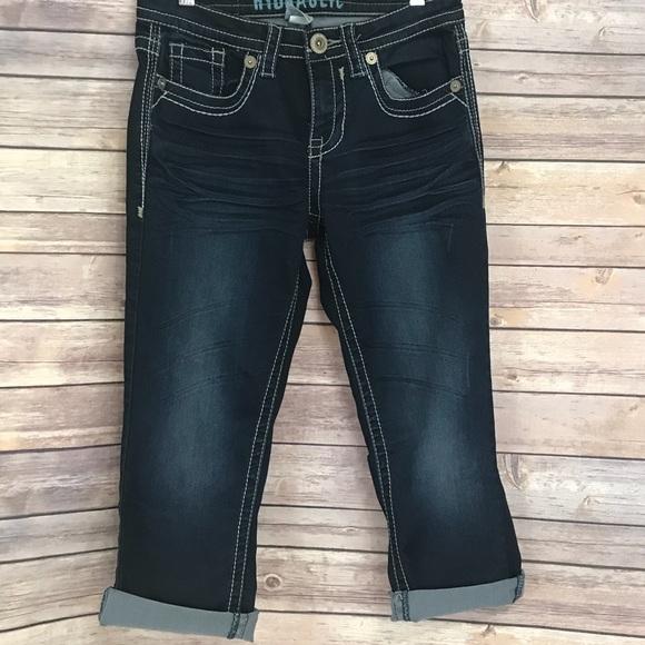 9c5cd6d7c4b Hydraulic Skinny Cropped Jeans Capris 6