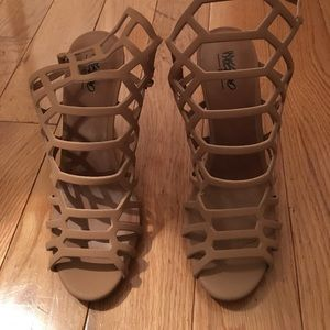 NEVER WORN Target Mossimo Caged Heeled Sandal