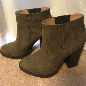 Zara Olive Green Trafaluc Boot