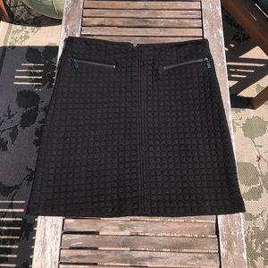 Black Moto-Style Skirt