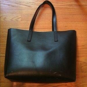 Jcrew leather tote in black