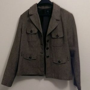 Women's brown blazer jacket, large