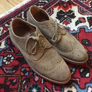 J. Crew Men's Kenton Suede Wing Tips