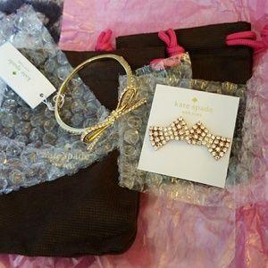NEW- Kate Spade bracelet and earrings